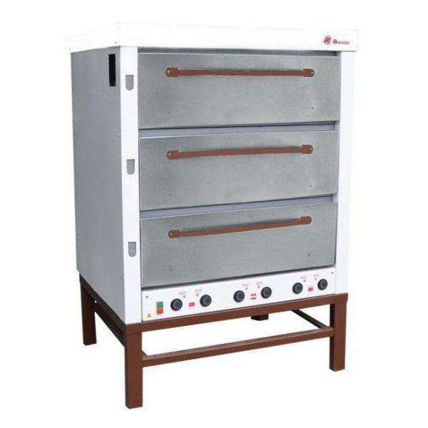 Хлебопекарная ярусная печь ХПЭ-500 (нержавеющие дверки)