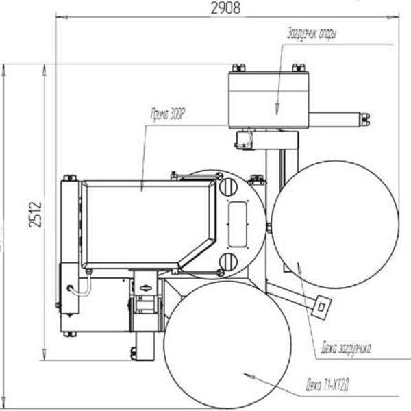 """Тестомесильная машина """"Прима-300Р"""" с загрузчиком опары схема 1"""