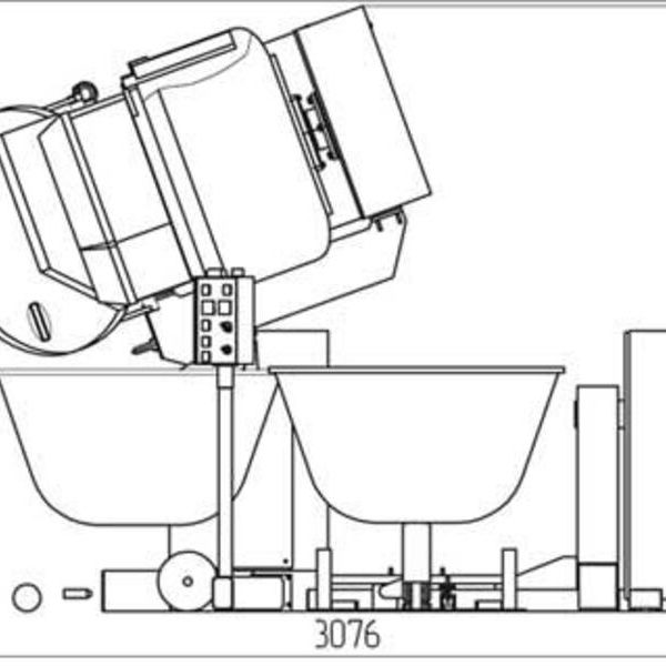"""Тестомесильная машина """"Прима-300Р"""" с загрузчиком опары схема 3"""