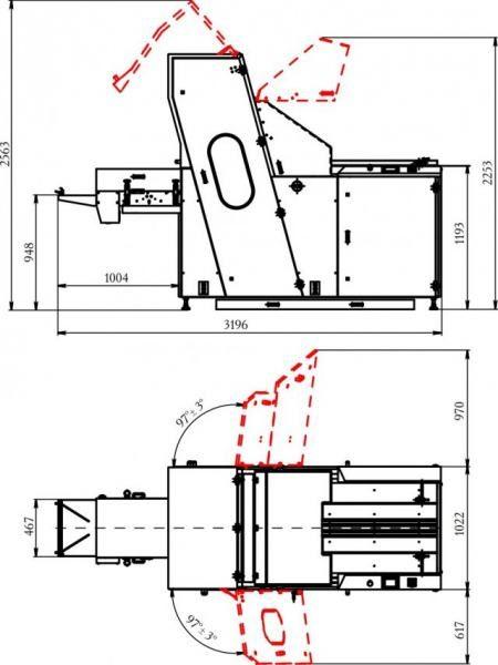 Машина «Кайман» для резки хлебобулочных изделий чертеж