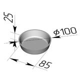 Формы круглые №17E (100x85x25)